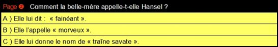 2 Hansel QCM