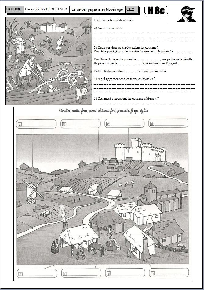 Gut bekannt H8 La vie quotidienne des paysans au Moyen Age - Le BLOG de  ZG08